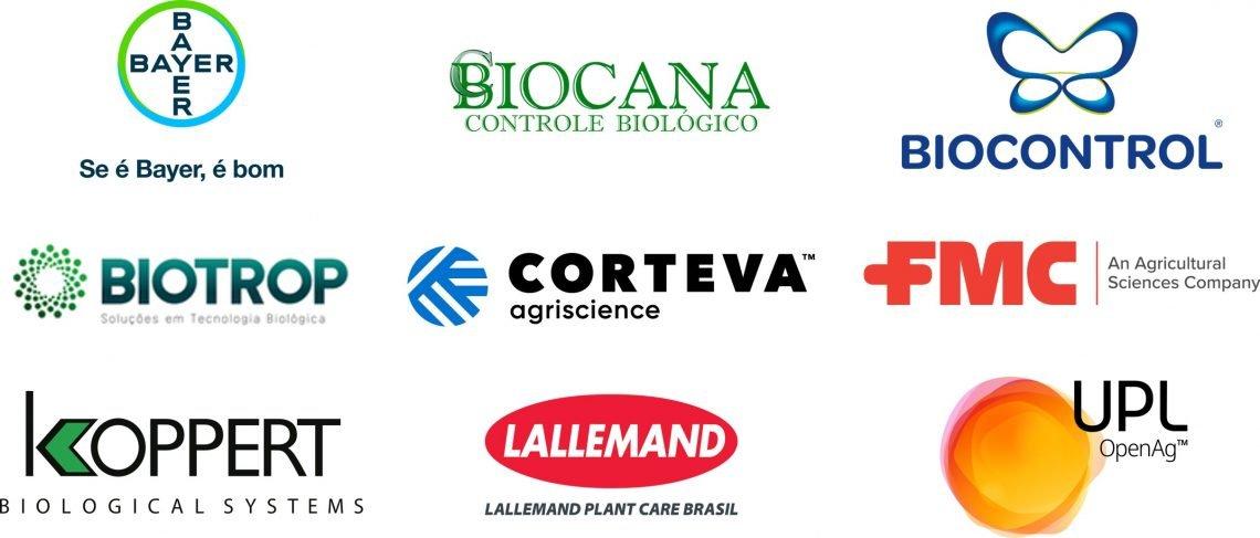 Bayer . Biocana . Biocontrol . Biotrop . Corteva . FMC . Koppert . Lallemand . UPL